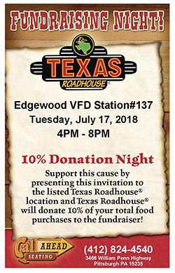 Fundraising Night at Texas Roadhouse